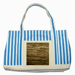 Weathered Wood Striped Blue Tote Bag