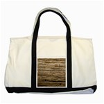 WEATHERED WOOD Two Tone Tote Bag  Front