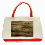 WEATHERED WOOD Classic Tote Bag (Red)  Front