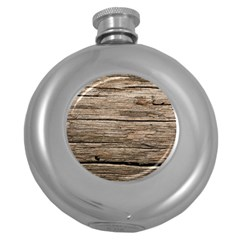 Weathered Wood Round Hip Flask (5 Oz)