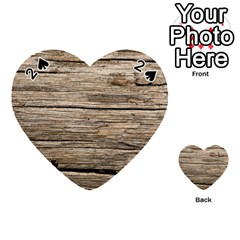 WEATHERED WOOD Playing Cards 54 (Heart)