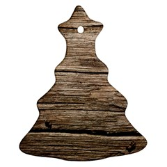 Weathered Wood Christmas Tree Ornament (2 Sides)