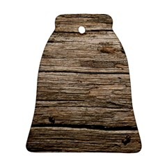 Weathered Wood Bell Ornament (2 Sides)