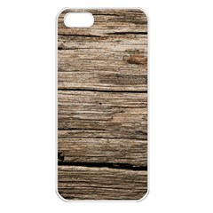 WEATHERED WOOD Apple iPhone 5 Seamless Case (White)