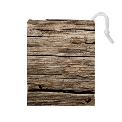 WEATHERED WOOD Drawstring Pouches (Large)