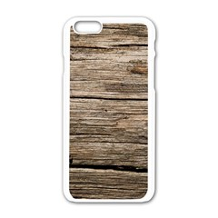 WEATHERED WOOD Apple iPhone 6/6S White Enamel Case