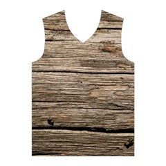 WEATHERED WOOD Men s Basketball Tank Top