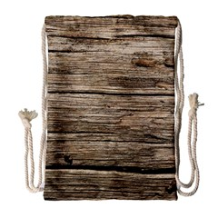 Weathered Wood Drawstring Bag (large)