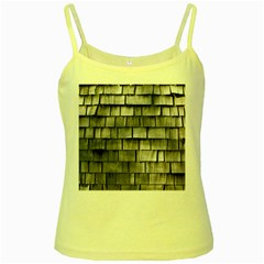 Weathered Shingle Yellow Spaghetti Tanks