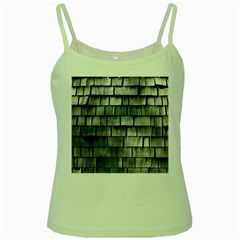 Weathered Shingle Green Spaghetti Tanks