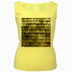 Weathered Shingle Women s Yellow Tank Tops