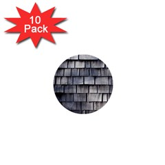 Weathered Shingle 1  Mini Buttons (10 Pack)