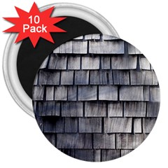 Weathered Shingle 3  Magnets (10 Pack)