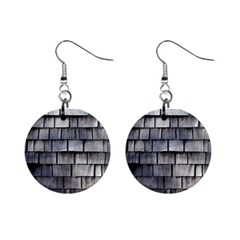 Weathered Shingle Mini Button Earrings