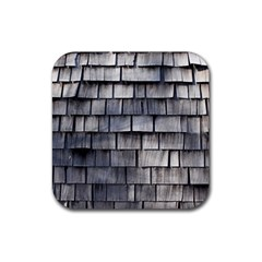 Weathered Shingle Rubber Square Coaster (4 Pack)