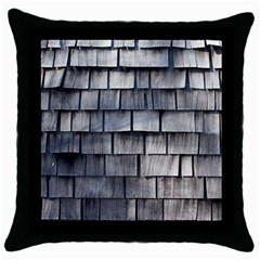 Weathered Shingle Throw Pillow Cases (black)