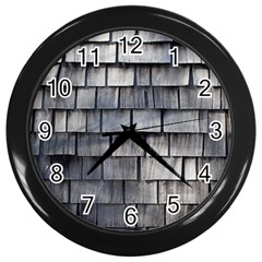 Weathered Shingle Wall Clocks (black)