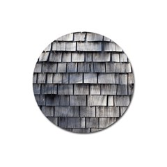 Weathered Shingle Magnet 3  (round)