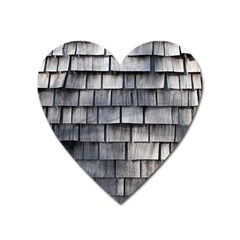 Weathered Shingle Heart Magnet