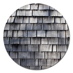 Weathered Shingle Magnet 5  (round)