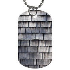 Weathered Shingle Dog Tag (one Side)