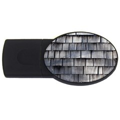 Weathered Shingle Usb Flash Drive Oval (2 Gb)