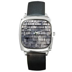 Weathered Shingle Square Metal Watches