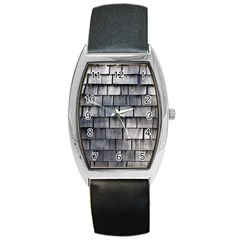 Weathered Shingle Barrel Metal Watches