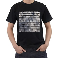 Weathered Shingle Men s T Shirt (black) (two Sided)