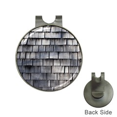 Weathered Shingle Hat Clips With Golf Markers