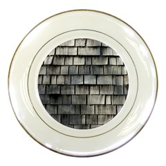 Weathered Shingle Porcelain Plates