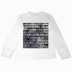 Weathered Shingle Kids Long Sleeve T Shirts