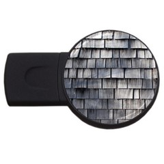 Weathered Shingle Usb Flash Drive Round (4 Gb)