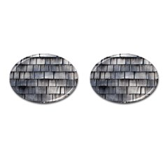 Weathered Shingle Cufflinks (oval)