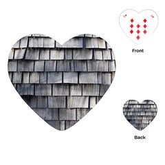 Weathered Shingle Playing Cards (heart)