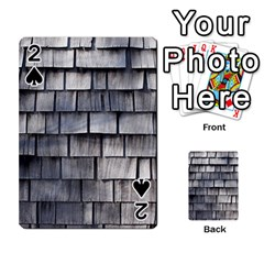 WEATHERED SHINGLE Playing Cards 54 Designs