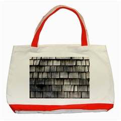 Weathered Shingle Classic Tote Bag (red)
