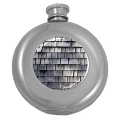 Weathered Shingle Round Hip Flask (5 Oz)
