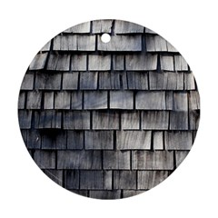 Weathered Shingle Round Ornament (two Sides)