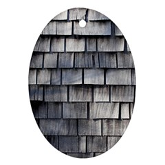 Weathered Shingle Oval Ornament (two Sides)