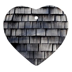Weathered Shingle Heart Ornament (2 Sides)