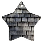 WEATHERED SHINGLE Star Ornament (Two Sides)  Front