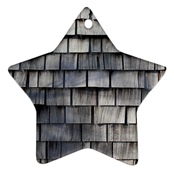 WEATHERED SHINGLE Star Ornament (Two Sides)