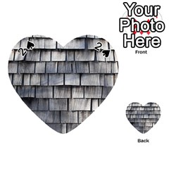 Weathered Shingle Playing Cards 54 (heart)