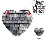 WEATHERED SHINGLE Playing Cards 54 (Heart)  Front - Heart6