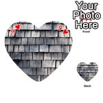 WEATHERED SHINGLE Playing Cards 54 (Heart)  Front - Heart9