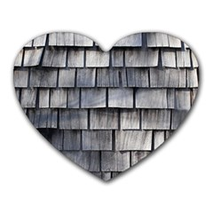Weathered Shingle Heart Mousepads
