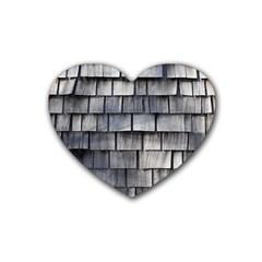 Weathered Shingle Rubber Coaster (heart)
