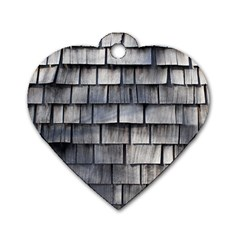 Weathered Shingle Dog Tag Heart (two Sides)