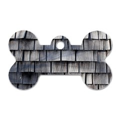 Weathered Shingle Dog Tag Bone (two Sides)